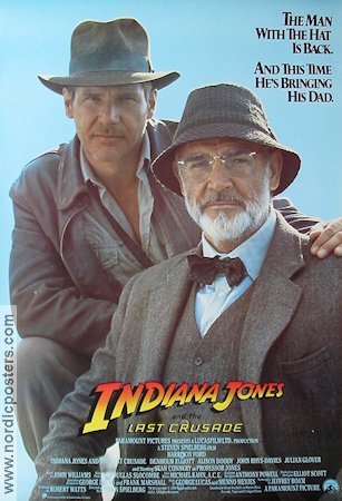 Indiana Jones and the Last Crusade Poster 68x102cm USA C FN original