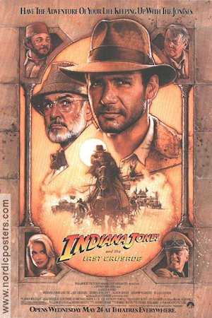 Indiana Jones and the Last Crusade 1989 Movie poster Harrison Ford Steven Spielberg
