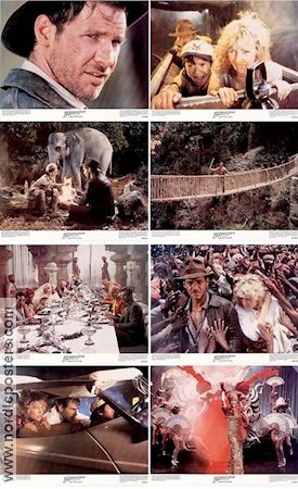 Indiana Jones and the Temple of Doom 1984 lobby card set Harrison Ford Steven Spielberg