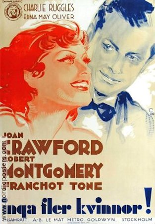 No More Ladies 1935 Movie poster Joan Crawford