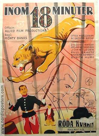 18 Minutes 1936 poster Gregory Ratoff Monty Banks