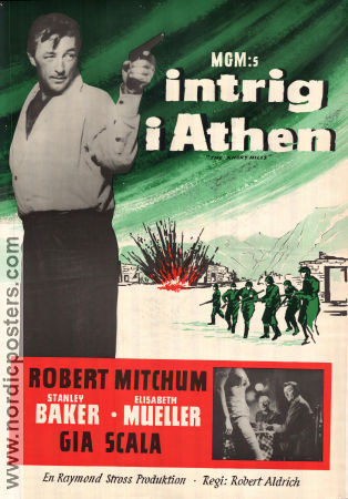 The Angry Hills 1959 Movie poster Robert Mitchum