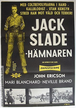 The Return of Jack Slade 1960 Movie poster John Ericson