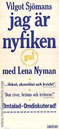 I Am Curious Yellow 1967 Movie poster Lena Nyman Vilgot Sjöman