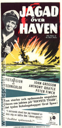 The Battle of the River Plate 1956 poster John Gregson Emeric Pressburger