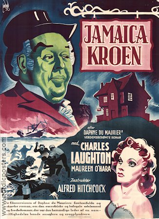 Jamaica Inn 1939 Movie poster Charles Laughton Alfred Hitchcock