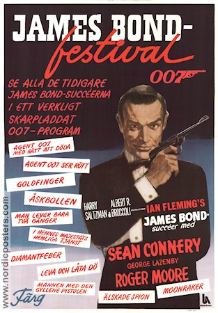 James Bond-festival 1979 poster Sean Connery