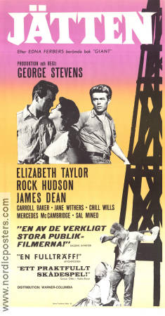 Giant 1957 Movie poster James Dean George Stevens