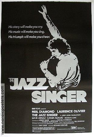 The Jazz Singer Poster 1981 Neil Diamond Original