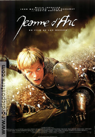 Jeanne d'Arc 1999 Movie poster Milla Jovovich Luc Besson
