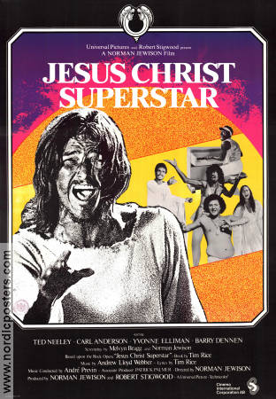 Jesus Christ Superstar 1973 poster Ted Neely Norman Jewison