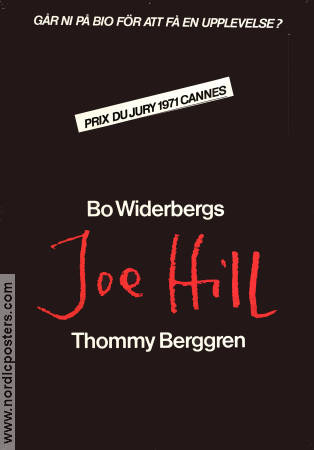 Joe Hill 1971 Movie poster Thommy Berggren Bo Widerberg