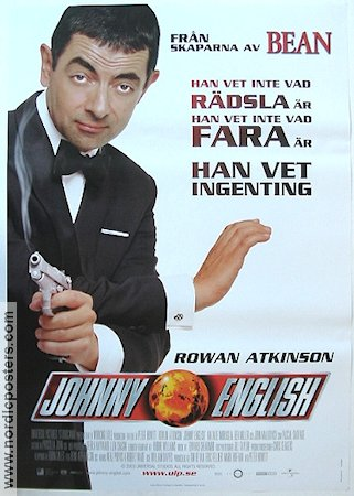 Johnny English 2003 Movie poster Rowan Atkinson