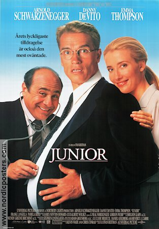 Junior 1994 Movie poster Arnold Schwarzenegger