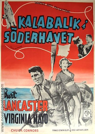 South Sea Woman 1956 poster Burt Lancaster