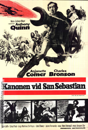 Guns For San Sebastian 1967 poster Anthony Quinn Henri Verneuil