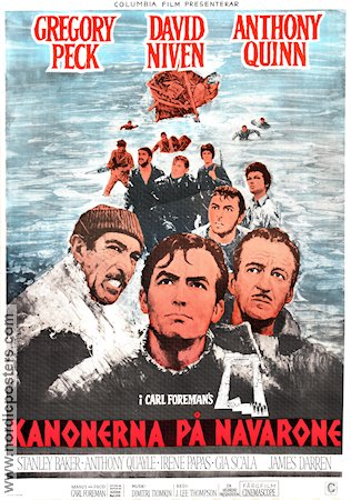 The Guns of Navarone 1961 poster Gregory Peck J Lee Thompson