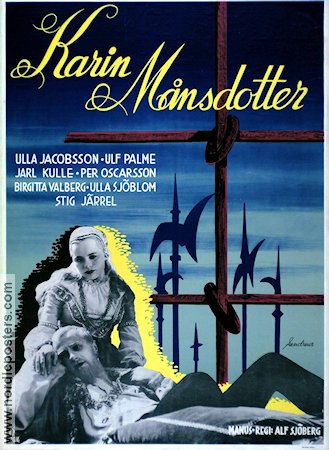Karin M�nsdotter 1954 Movie poster Ulla Jacobsson Alf Sj�berg