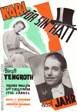 Karl f�r sin hatt 1940 Movie poster Birgit Tengroth