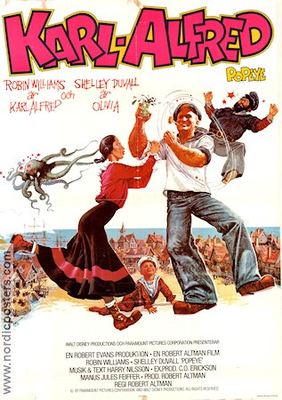 Popeye 1980 Robert Altman Robin Williams Shelley Duvall