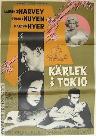 A Girl Named Tamiko 1963 poster Laurence Harvey John Sturges