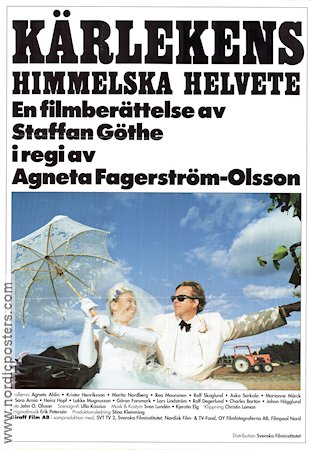 K�rlekens himmelska helvete 1993 Movie poster Staffan G�the Agneta Fagerstr�m-Olsson