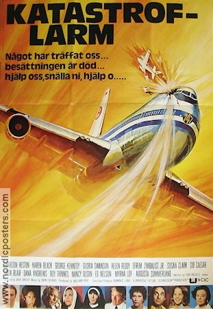 Airport 75 Poster 1975 Charlton Heston Original