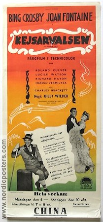 The Emperor Waltz 1948 Billy Wilder Bing Crosby Joan Fontaine