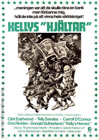 Kelly's Heroes 1970 poster Clint Eastwood