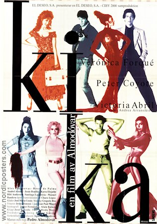 Kika 1995 Movie poster Veronica Forque Pedro Almodovar