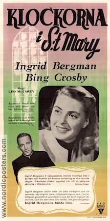 The Bells of S:t Mary 1946 Movie poster Ingrid Bergman