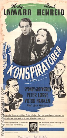 The conspirators Hedy Lamarr vintage movie poster