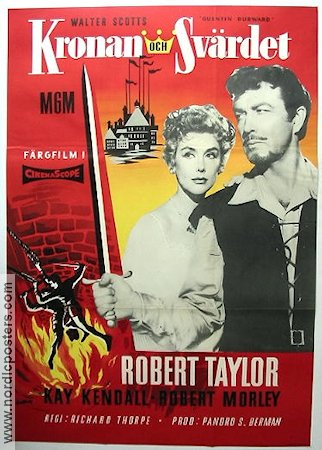 Quentin Durward 1956 Movie poster Robert Taylor