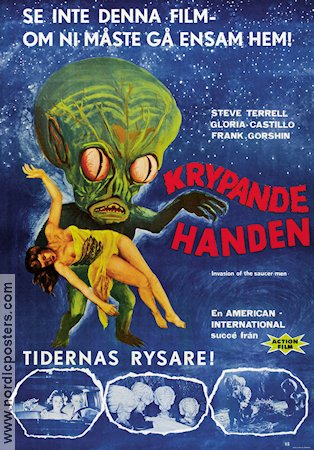 Invasion of the Saucer-men 1961 poster Steve Terrell