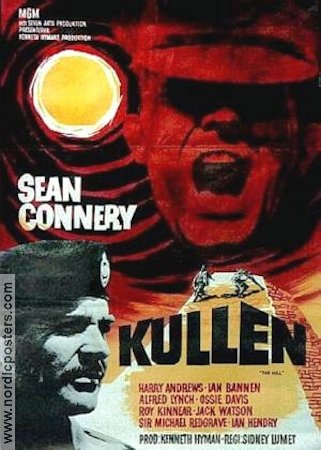 The Hill 1965 poster Sean Connery