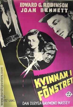 The Woman in the Window 1944 Movie poster Edward G Robinson Fritz Lang