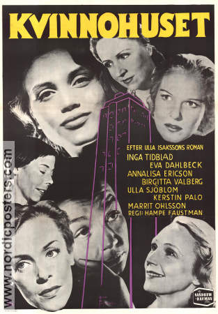 Kvinnohuset 1953 Movie poster Inga Tidblad