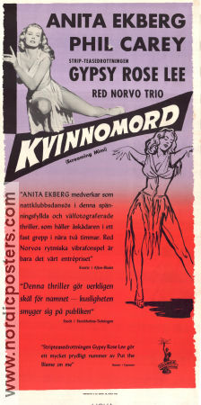 Screaming Mimi 1958 poster Anita Ekberg Gerd Oswald