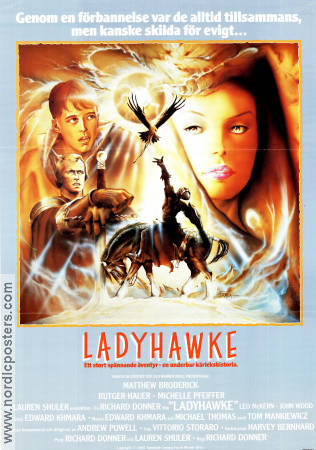 Ladyhawke 1985 Movie poster Matthew Broderick