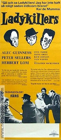 The Ladykillers 1955 Movie poster Alec Guinness