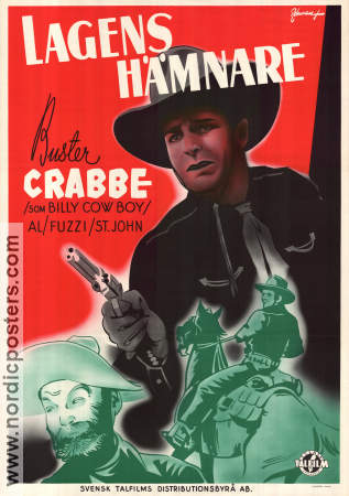 Cattle Stampede 1943 poster Buster Crabbe Sam Newfield