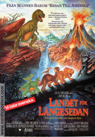 The Land Before Time 1997 poster Don Bluth