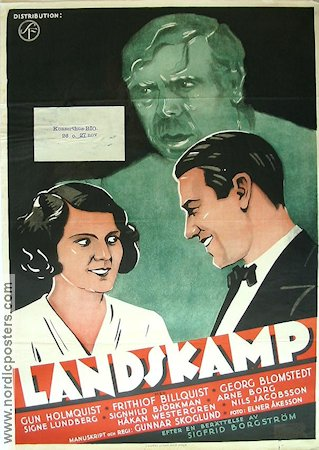 Landskamp 1932 Movie poster Gun Holmqvist