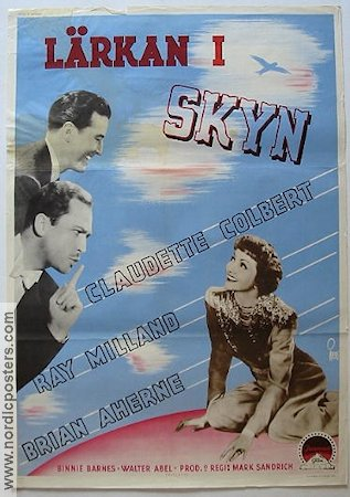 Skylark 1942 Movie poster Claudette Colbert