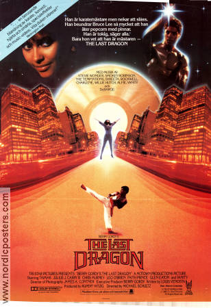 The Last Dragon 1985 Movie poster Berry Gordy