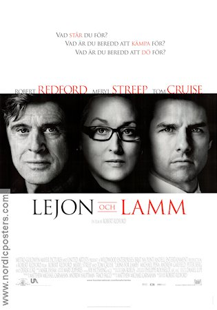 Lions for Lambs 2007 poster Robert Redford