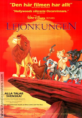 The Lion King 1995 poster