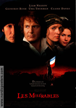 Les Mis�rables 1998 Movie poster Liam Neeson Bille August