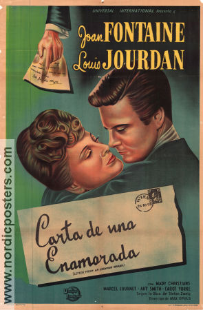 Letter From an Unknown Woman 1948 poster Joan Fontaine Max Ophüls