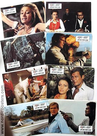 Live and Let Die 1973 lobby card set Roger Moore Guy Hamilton